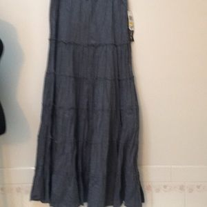 Style & Co petite medium boho maxi skirt NWT